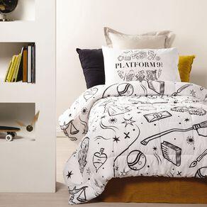 Harry Potter Comforter Set Platform 9 3/4 King Single