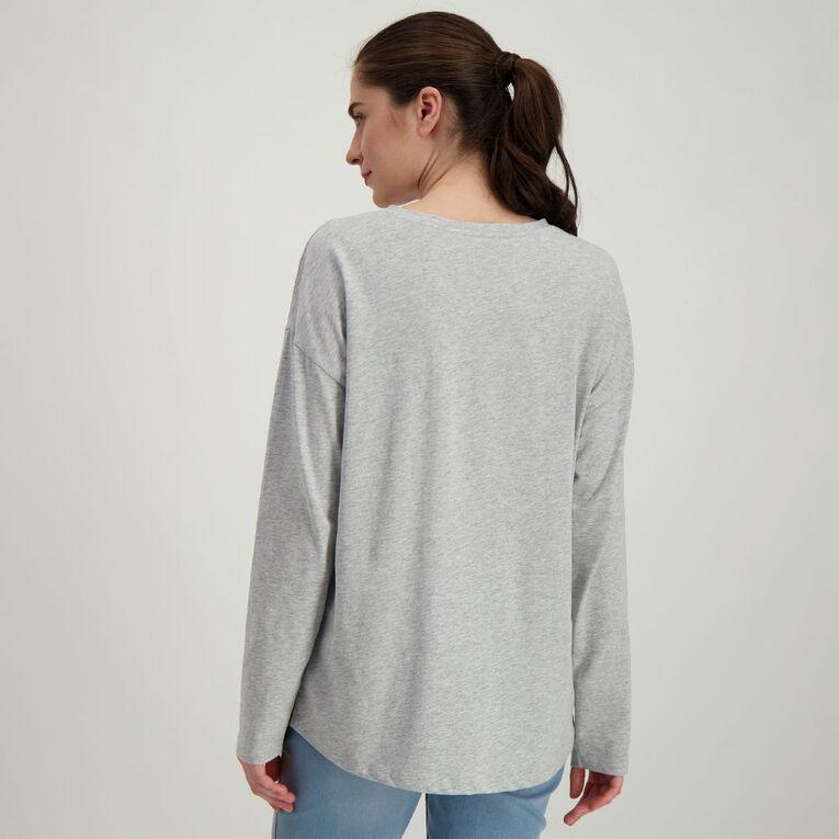 H&H Women's Long Sleeve, Grey Marle, hi-res