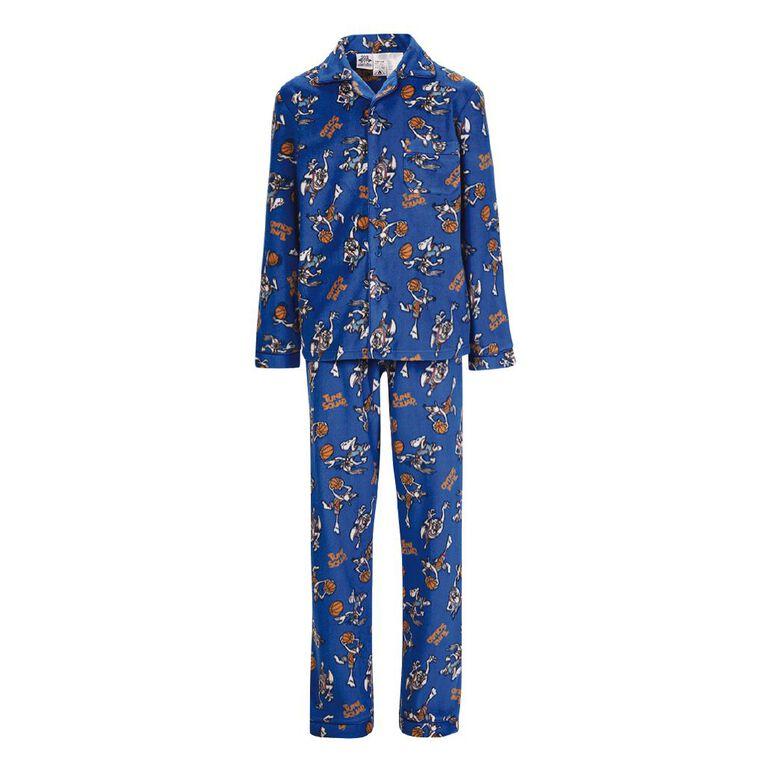 Looney Tunes Boys' Fleece Pyjama, Blue Mid, hi-res