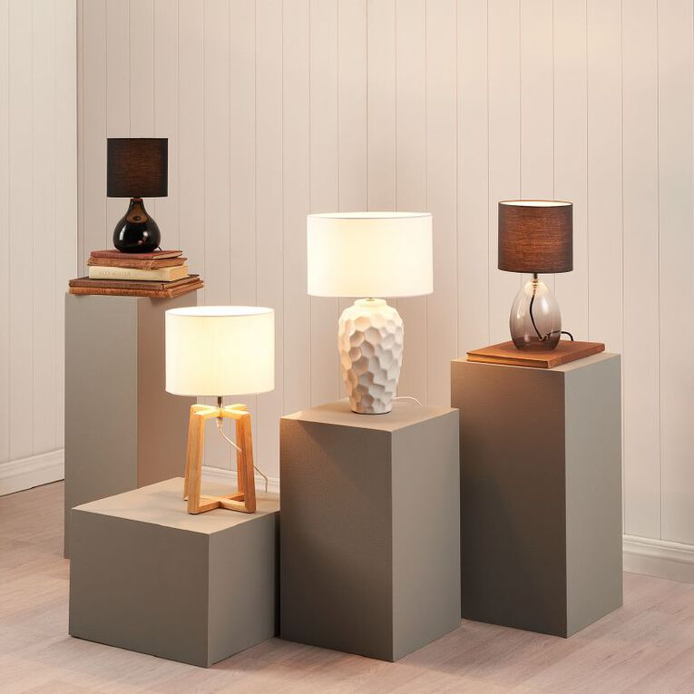 Living & Co Glass Lamp Grey, , hi-res
