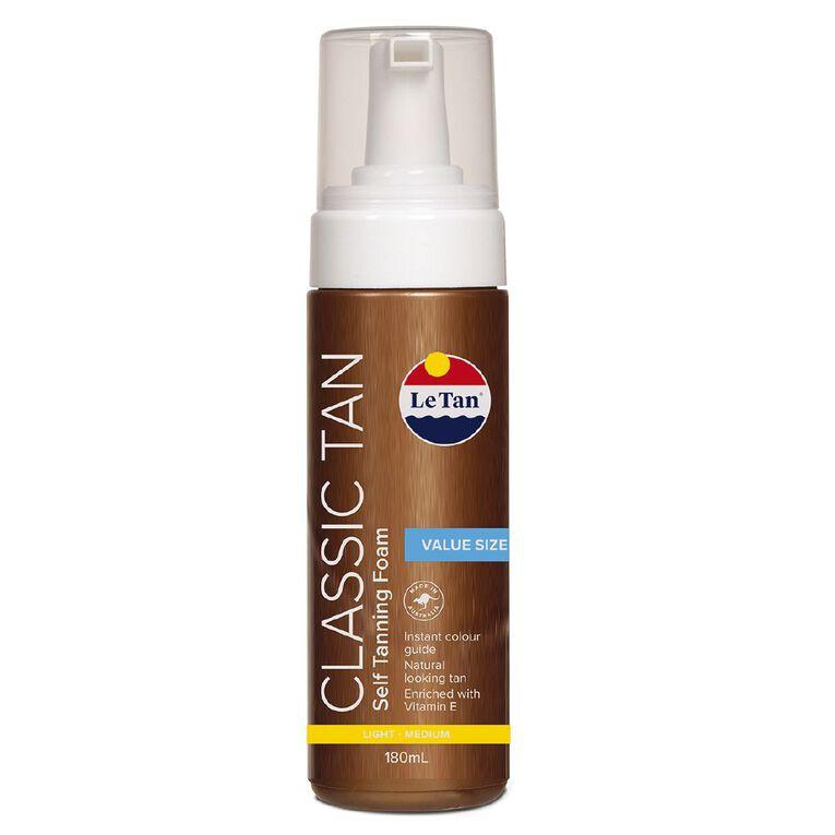 Le Tan Classic Tan Mousse Light-Medium 180ml, , hi-res