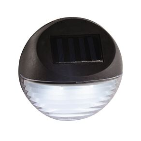 Kiwi Garden Solar Fence Light 2 Lumen Black