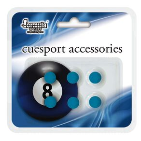 Formula Sports Blue Stick On Cue Tips 10mm  6 Pack