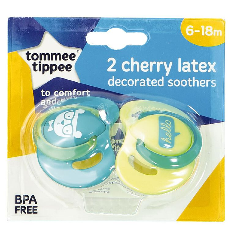 Tommee Tippee Latex Soother 6-18m 2 Pack, , hi-res