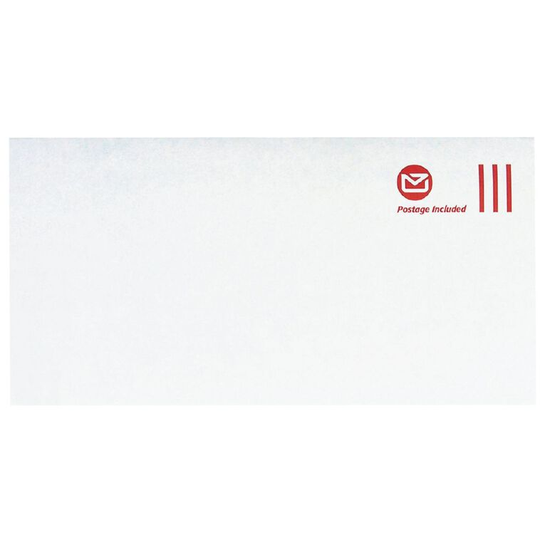 New Zealand Post DLE Envelope Prepaid Non Window 100 Pack, , hi-res