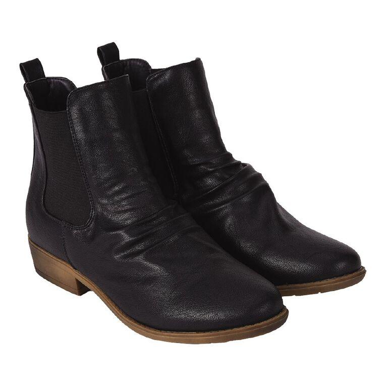 H&H Crinkle Ankle Boots, Black, hi-res image number null