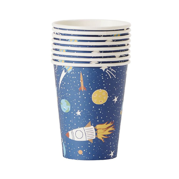 Party Inc Star Paper Cups 250ml 8 Pack, , hi-res image number null