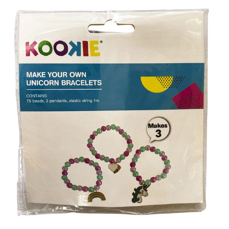 Kookie Make Your Own Unicorn Bracelets, , hi-res