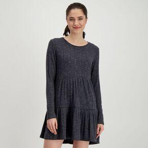 H&H Women's Women's Tiered Rib Dress