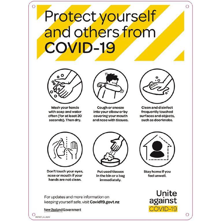 WS COVID Sign PROTECT POSTER ENGLISH, , hi-res