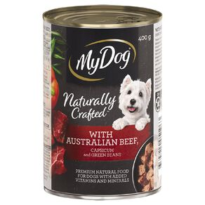 My Dog Natural with Australian Beef with Capsicum & Green Beans 400g