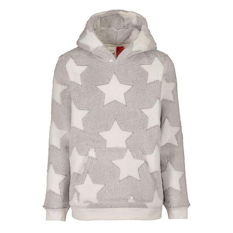 H&H Kids' Coral Fleece Star Top, Grey, hi-res