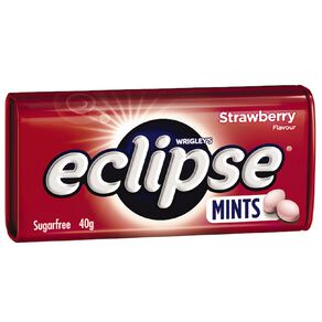 Eclipse Strawberry Mints Sugar Free Large Tin 40g 40g
