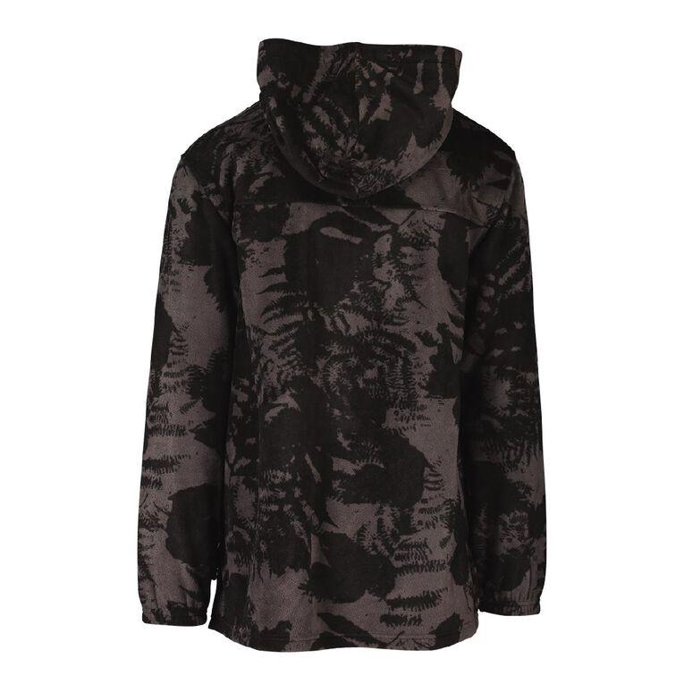 Back Country Camo Fleece Hooded Sweatshirt, Charcoal, hi-res