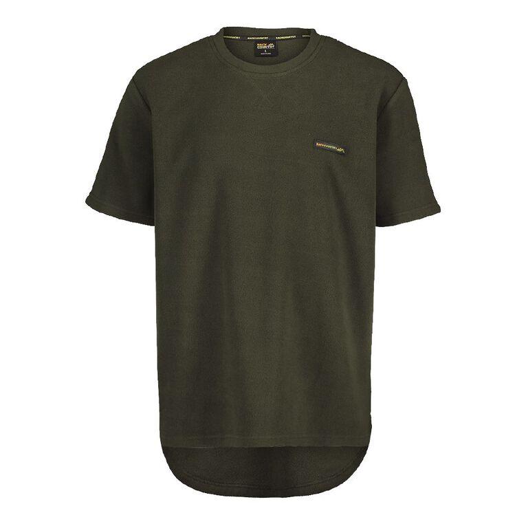 Back Country Solid Fleece Short Sleeve Tee, Green, hi-res