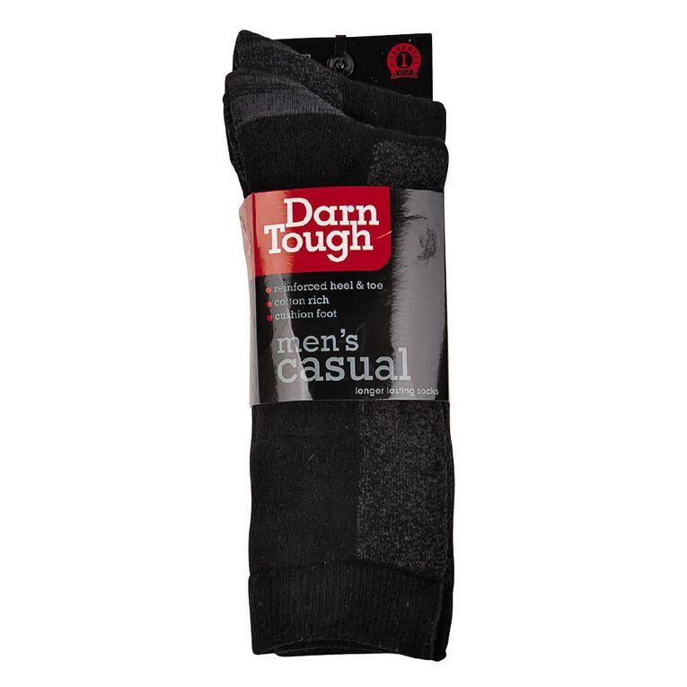 Darn Tough Men's Utility Crew Socks 2 Pack, Black, hi-res