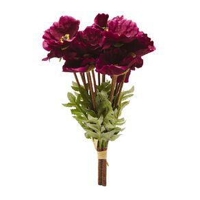 Living & Co Artificial Wild Flower Bunch Purple 38cm