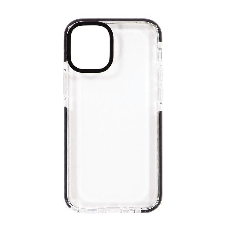 Tech.Inc iPhone 12 Mini Clear TPU Case Black Frame, , hi-res