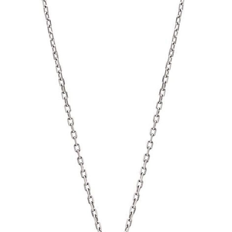 0.05 Carat Diamond Sterling Silver Triple Heart Necklet, , hi-res
