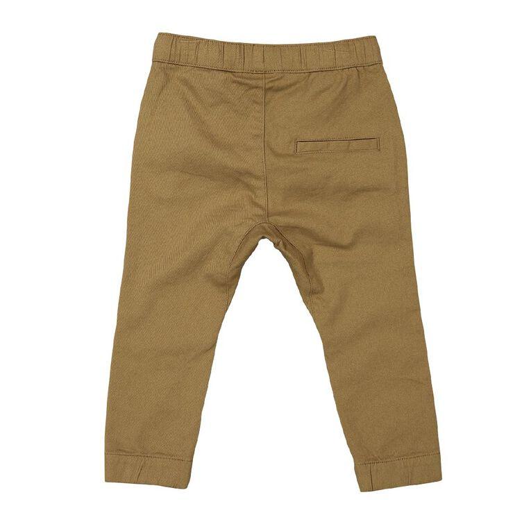 Young Original Toddler Plain Chino Pants, Brown Mid, hi-res