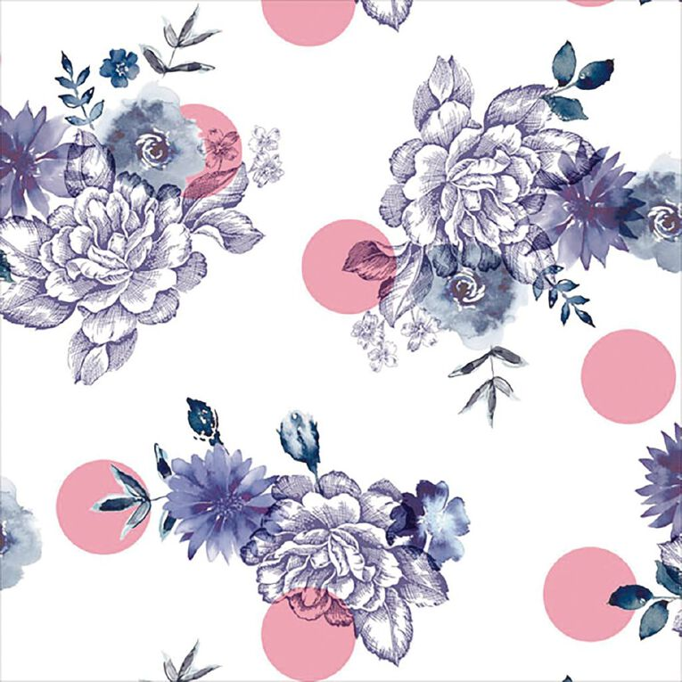 John Sands Roll Wrap Purple Floral, , hi-res