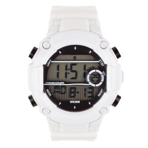 Active Intent Sports Digital Watch White