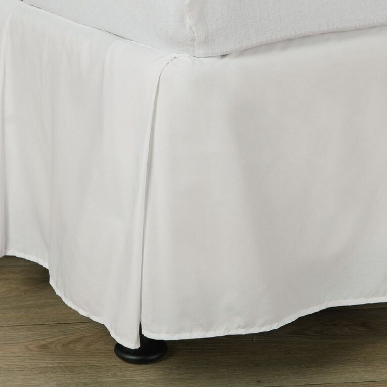 Living & Co Valance Cotton Rich 270 Thread Count White Single, White, hi-res