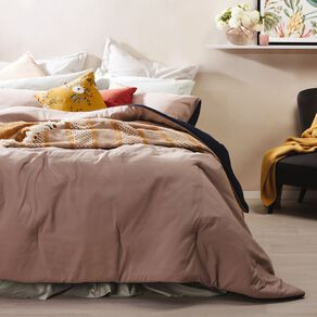 Living & Co Comforter Set Bark Navy