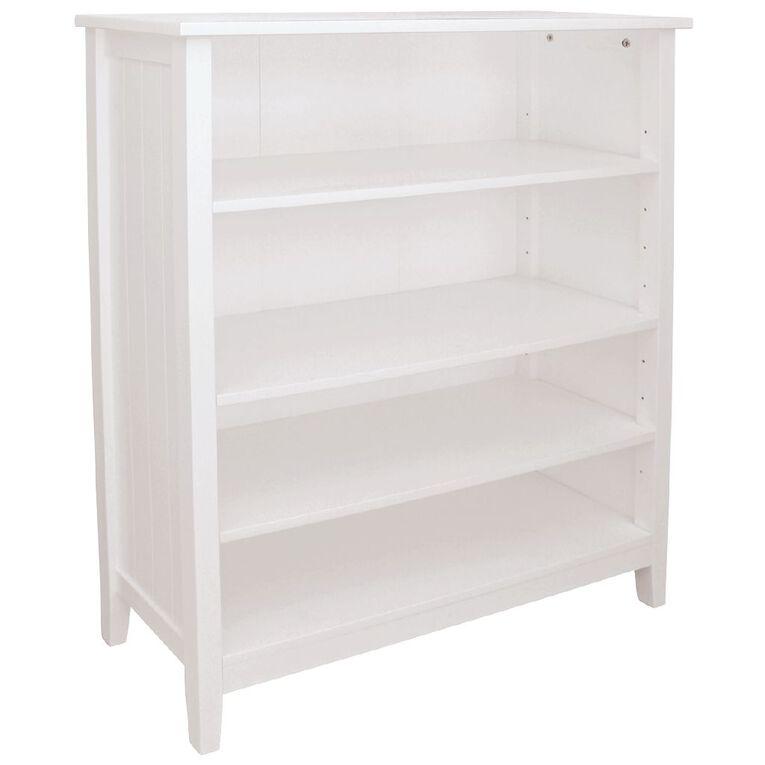 Living & Co Glacier 4 Tier Bookcase White, , hi-res