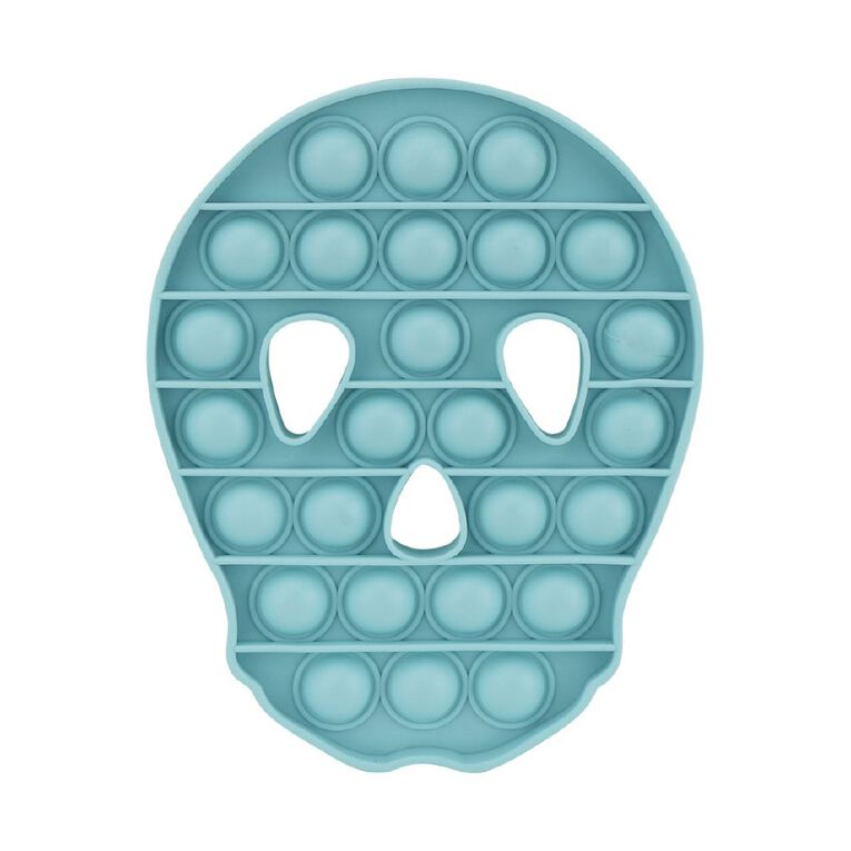 Play Studio Pop 'n' Play Fidget Toy Skull Aqua, , hi-res