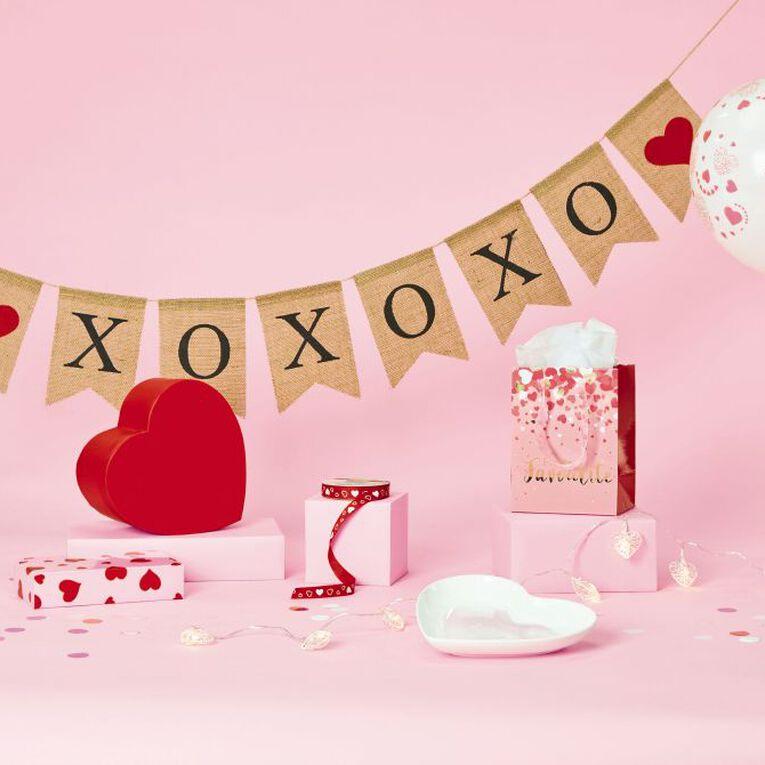 Party Inc Heart Ribbon 15mm x 20m Red, , hi-res