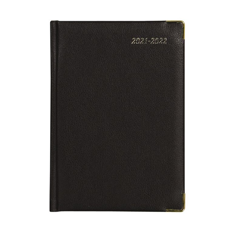 Dats Diary Mid Year 21-22 Week To View Elite PU Black A5, , hi-res
