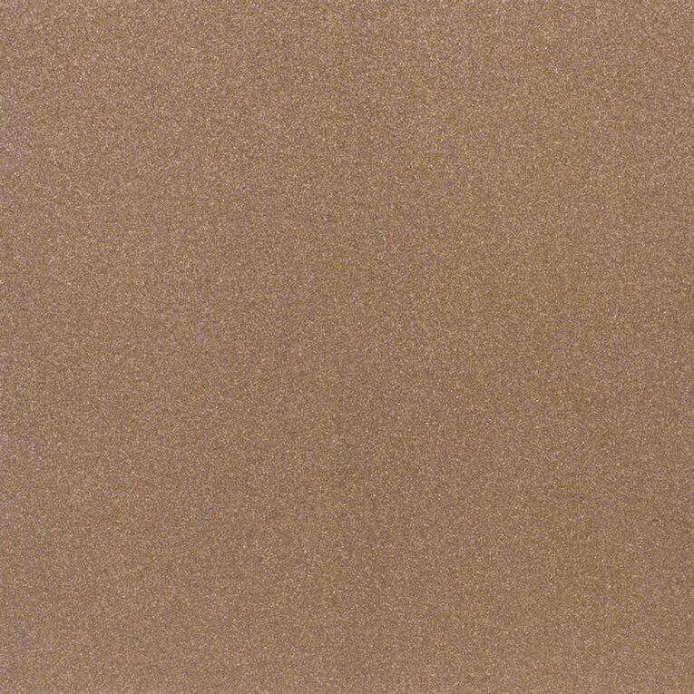 American Crafts Cardstock Sparkle Fine 12 x 12 Caramel Brown, , hi-res