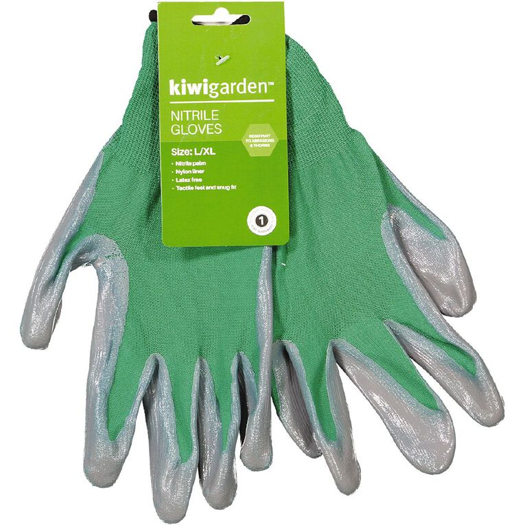 Kiwi Garden Nitrile Gloves L-XL, , hi-res