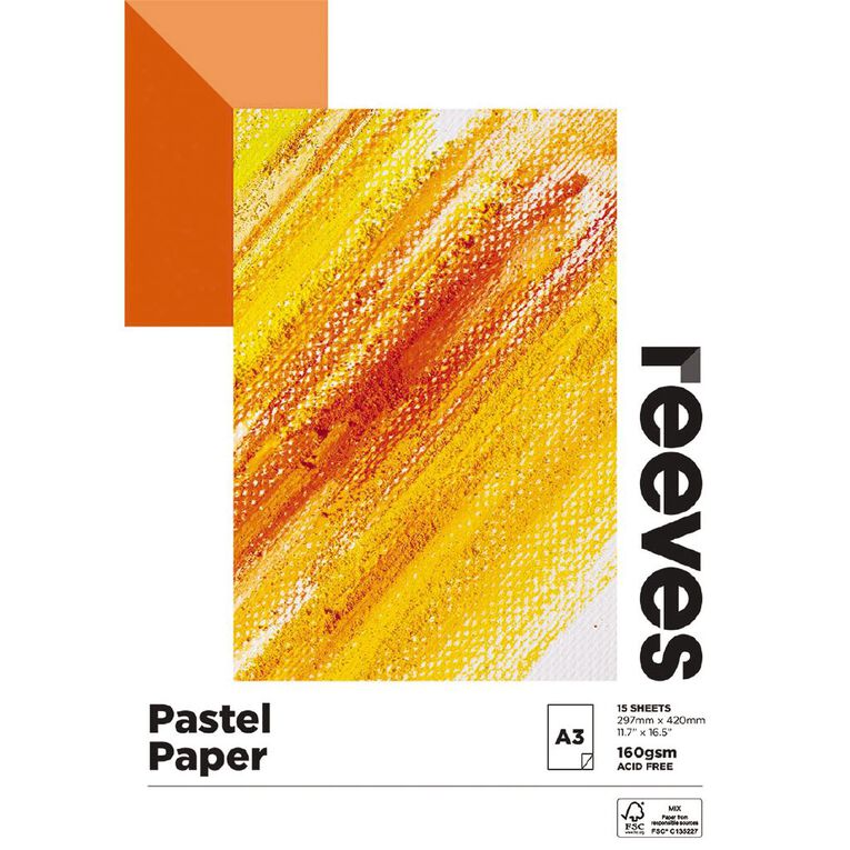 Reeves Pastel Pad 160gsm 15 Sheets A3, , hi-res image number null