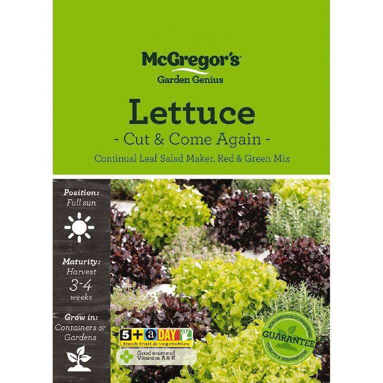 McGregor's Lettuce Cut & Come Again Seed, , hi-res