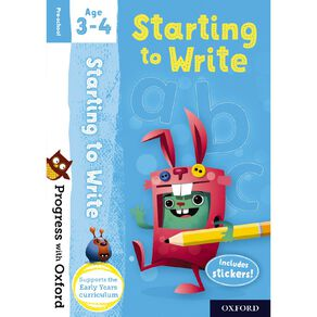Starting to Write Age 3-4 by Oxford University Press