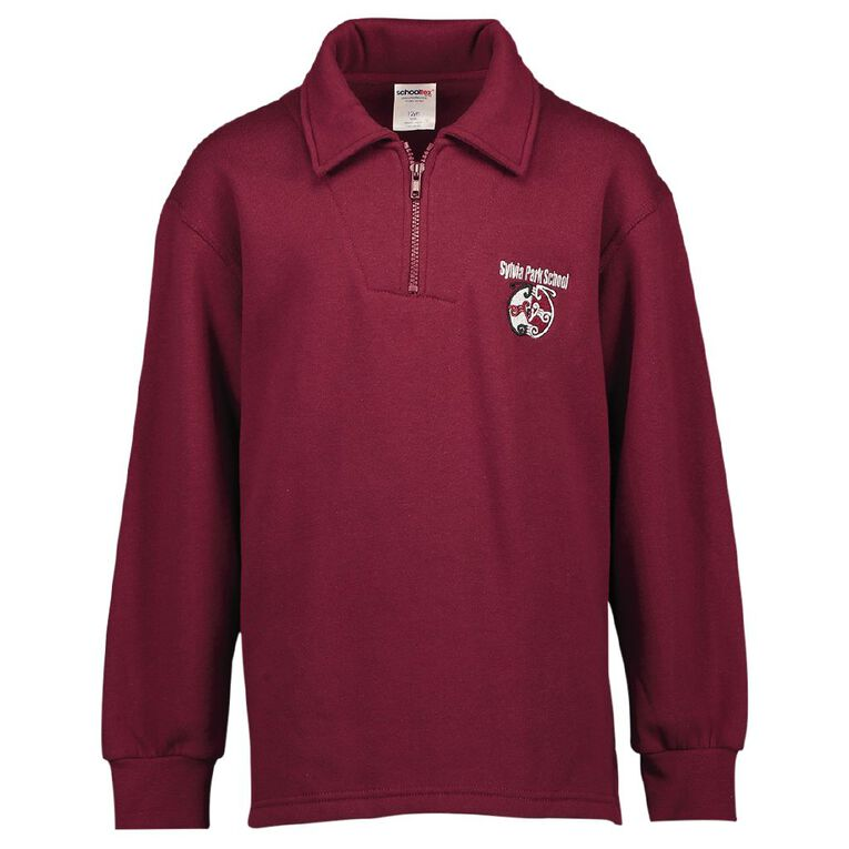 Schooltex Sylvia Park TF Sweats with Embroidery, Burgundy, hi-res