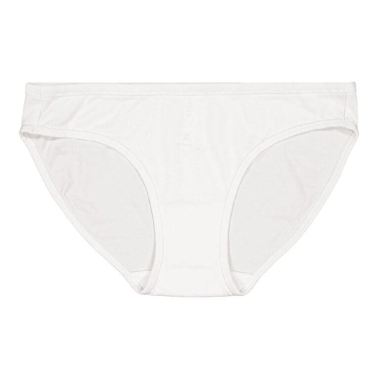 H&H Women's Cotton Comfort Bikini Briefs, White, hi-res