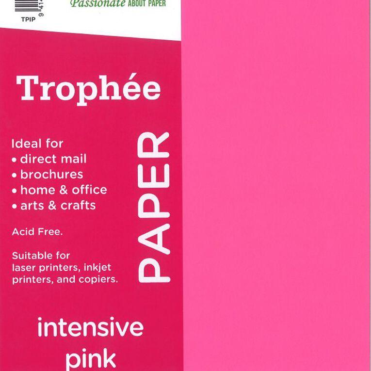 Trophee Paper 80gsm 30 Pack Intensive Pink A4, , hi-res