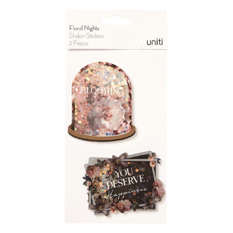 Uniti Floral Nights Shaker Stickers, , hi-res