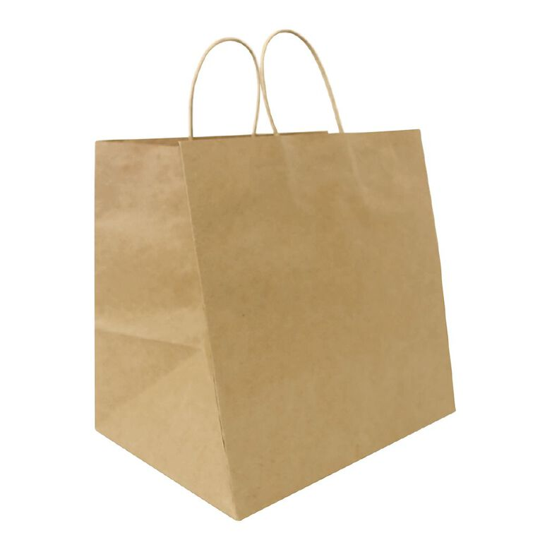 Xtra Wide Twisted Handle Paper Bag 25 Pack, , hi-res