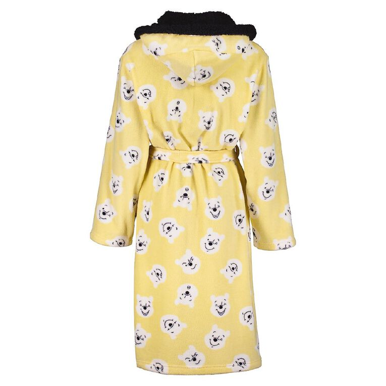 Disney Winnie The Pooh Women's Sherpa Hooded Robe, Yellow, hi-res