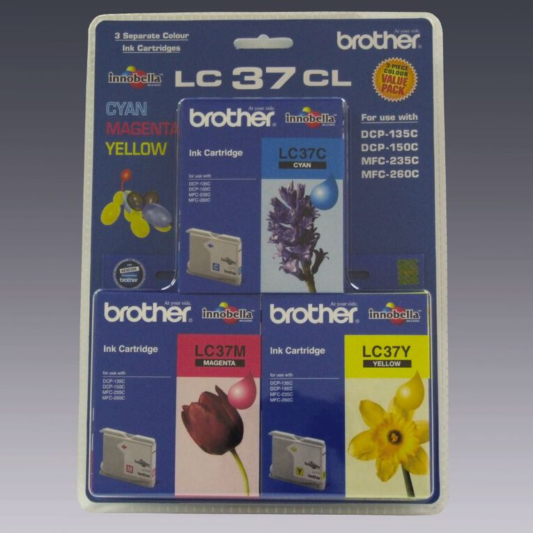 Brother Ink LC37 Colour 3 Pack (300 pages), , hi-res