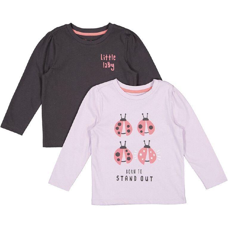 Young Original Toddler 2 Pack Long Sleeve Tee, Purple Light, hi-res