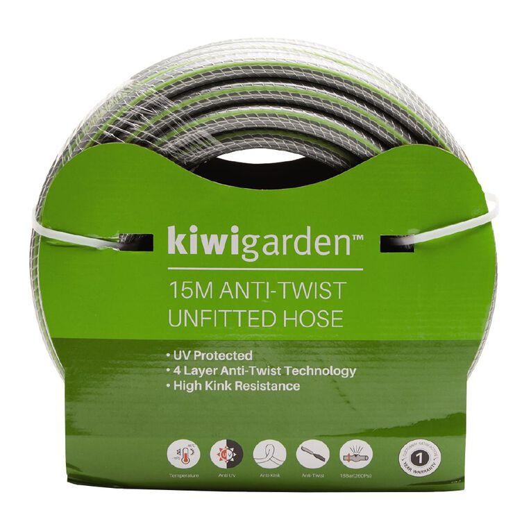 Kiwi Garden Anti-Twist Unfitted Hose Green 15m, , hi-res