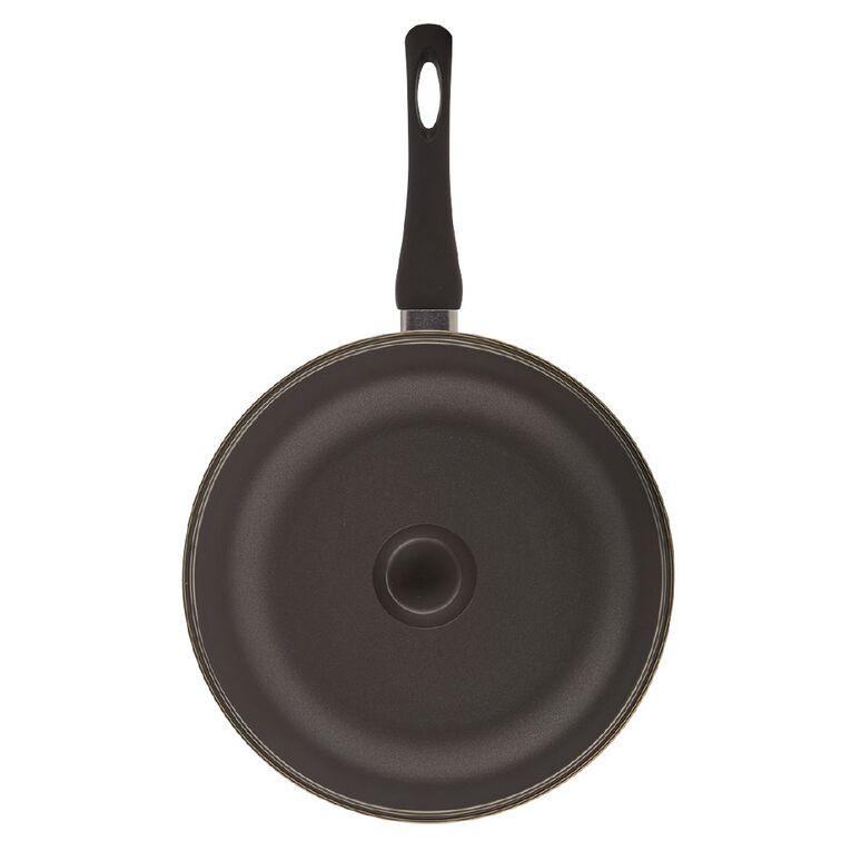 Living & Co Classic Deep Dish Pan Black 28cm, , hi-res