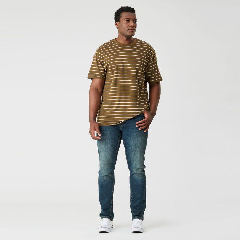 H&H Men's Tapered Jeans, Denim Dark, hi-res