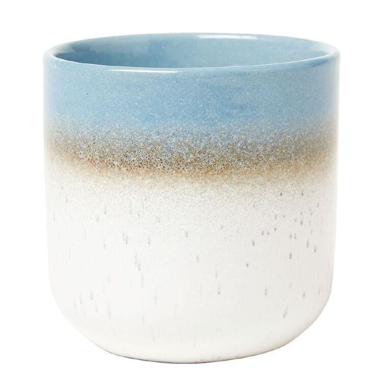 Living & Co Reactive Glazed Elements Water Candle Blue 12oz, Blue, hi-res