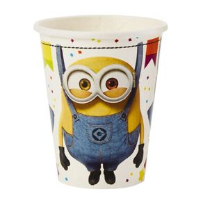 Despicable Me 3 Minion Made Paper Cups 266ml 8 Pack